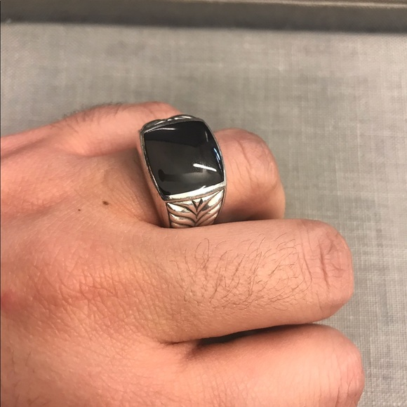 David Yurman Black Onyx Mens Ring